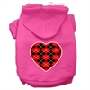 Mirage Pet Products Argyle Heart Red Screen Print Pet Hoodies Bright Pink Size XS (8)