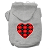 Mirage Pet Products Argyle Heart Red Screen Print Pet Hoodies Grey Size XXL (18)
