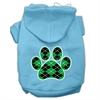 Mirage Pet Products Argyle Paw Green Screen Print Pet Hoodies Baby Blue Size Lg (14)