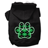 Mirage Pet Products Argyle Paw Green Screen Print Pet Hoodies Black Size XL (16)
