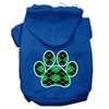 Mirage Pet Products Argyle Paw Green Screen Print Pet Hoodies Blue Size XXL (18)