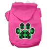 Mirage Pet Products Argyle Paw Green Screen Print Pet Hoodies Bright Pink Size Sm (10)