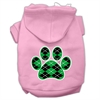 Mirage Pet Products Argyle Paw Green Screen Print Pet Hoodies Light Pink Size Sm (10)