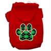 Mirage Pet Products Argyle Paw Green Screen Print Pet Hoodies Red Size XS (8)