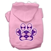 Mirage Pet Products Argyle Paw Purple Screen Print Pet Hoodies Light Pink Size Med (12)