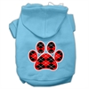 Mirage Pet Products Argyle Paw Red Screen Print Pet Hoodies Baby Blue Size Med (12)