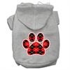 Mirage Pet Products Argyle Paw Red Screen Print Pet Hoodies Grey Size XL (16)