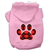 Mirage Pet Products Argyle Paw Red Screen Print Pet Hoodies Light Pink Size XXXL (20)