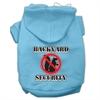 Mirage Pet Products Backyard Security Screen Print Pet Hoodies Baby Blue Size XS (8)