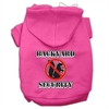 Mirage Pet Products Backyard Security Screen Print Pet Hoodies Bright Pink Size XS (8)