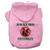 Mirage Pet Products Backyard Security Screen Print Pet Hoodies Light Pink Size XL (16)