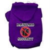 Mirage Pet Products Backyard Security Screen Print Pet Hoodies Purple Size M (12)
