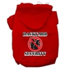 Mirage Pet Products Backyard Security Screen Print Pet Hoodies Red Size XXL (18)