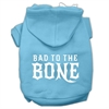 Mirage Pet Products Bad to the Bone Dog Pet Hoodies Baby Blue Size Sm (10)