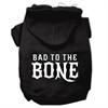 Mirage Pet Products Bad to the Bone Dog Pet Hoodies Black Size Lg (14)