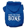 Mirage Pet Products Bad to the Bone Dog Pet Hoodies Blue Size XS (8)