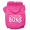 Mirage Pet Products Bad to the Bone Dog Pet Hoodies Bright Pink Size Sm (10)