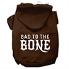 Mirage Pet Products Bad to the Bone Dog Pet Hoodies Brown Size Sm (10)