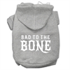 Mirage Pet Products Bad to the Bone Dog Pet Hoodies Grey Size Lg (14)