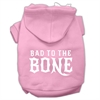 Mirage Pet Products Bad to the Bone Dog Pet Hoodies Light Pink Size Med (12)