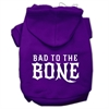 Mirage Pet Products Bad to the Bone Dog Pet Hoodies Purple Size Med (12)