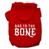 Mirage Pet Products Bad to the Bone Dog Pet Hoodies Red Size XS (8)