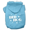 Mirage Pet Products Bed Hog Screen Printed Pet Hoodies Baby Blue Size XS (8)