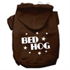 Mirage Pet Products Bed Hog Screen Printed Pet Hoodies Brown Size S (10)