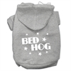Mirage Pet Products Bed Hog Screen Printed Pet Hoodies Grey Size XXL (18)