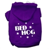 Mirage Pet Products Bed Hog Screen Printed Pet Hoodies Purple Size XS (8)
