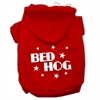 Mirage Pet Products Bed Hog Screen Printed Pet Hoodies Red Size XXL (18)