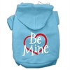 Mirage Pet Products Be Mine Screen Print Pet Hoodies Baby Blue Size XXL (18)