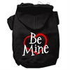 Mirage Pet Products Be Mine Screen Print Pet Hoodies Black Size XS (8)