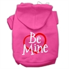 Mirage Pet Products Be Mine Screen Print Pet Hoodies Bright Pink Size Med (12)