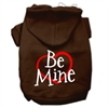 Mirage Pet Products Be Mine Screen Print Pet Hoodies Brown Size Med (12)