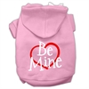 Mirage Pet Products Be Mine Screen Print Pet Hoodies Light Pink Size Sm (10)