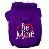 Mirage Pet Products Be Mine Screen Print Pet Hoodies Purple Size XS (8)
