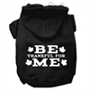 Mirage Pet Products Be Thankful for Me Screen Print Pet Hoodies Black Size XS (8)