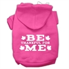 Mirage Pet Products Be Thankful for Me Screen Print Pet Hoodies Bright Pink Size XXXL(20)