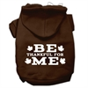 Mirage Pet Products Be Thankful for Me Screen Print Pet Hoodies Brown Size Sm (10)
