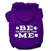 Mirage Pet Products Be Thankful for Me Screen Print Pet Hoodies Purple Size S (10)