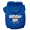Mirage Pet Products Birthday Boy Screen Print Pet Hoodies Blue Size Sm (10)