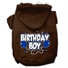 Mirage Pet Products Birthday Boy Screen Print Pet Hoodies Brown Size Med (12)