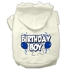 Mirage Pet Products Birthday Boy Screen Print Pet Hoodies Cream Size Sm (10)