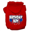 Mirage Pet Products Birthday Boy Screen Print Pet Hoodies Red Size XS (8)