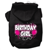 Mirage Pet Products Birthday Girl Screen Print Pet Hoodies Black Size XS (8)