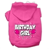 Mirage Pet Products Birthday Girl Screen Print Pet Hoodies Bright Pink Size Sm (10)