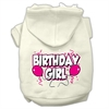 Mirage Pet Products Birthday Girl Screen Print Pet Hoodies Cream Size Sm (10)