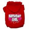 Mirage Pet Products Birthday Girl Screen Print Pet Hoodies Red Size Sm (10)