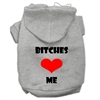 Mirage Pet Products Bitches Love Me Screen Print Pet Hoodies Grey Size XXL (18)